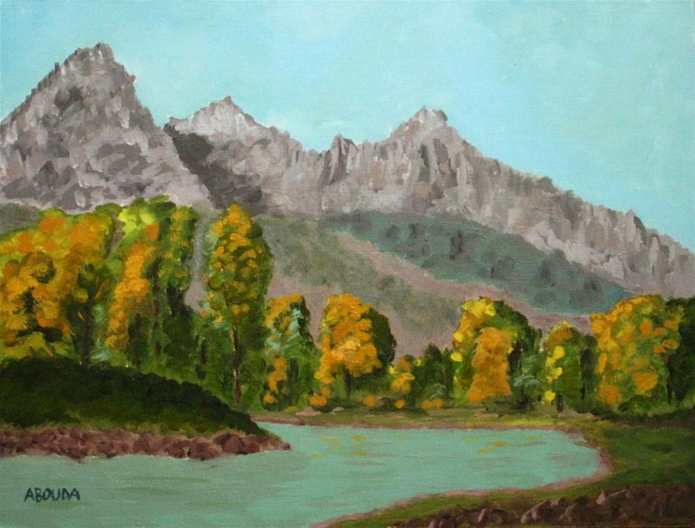 """""""The Snake River and the Tetons"""" original fine art by Sandy Abouda"""