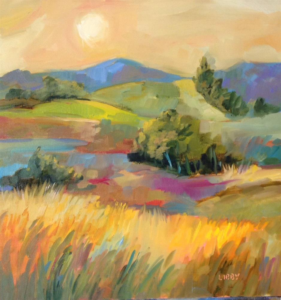 """Marmalade Skies"" original fine art by Libby Anderson"