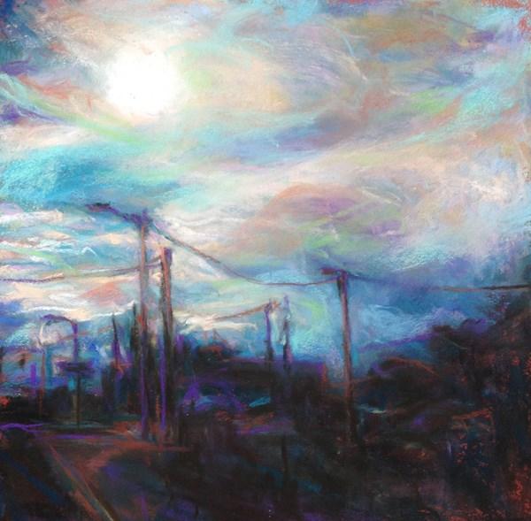 """EVENING - 6 x 6 landscape pastel by Susan Roden"" original fine art by Susan Roden"