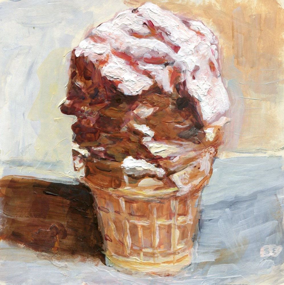 """Double Scoop"" original fine art by Stanley Epperson"