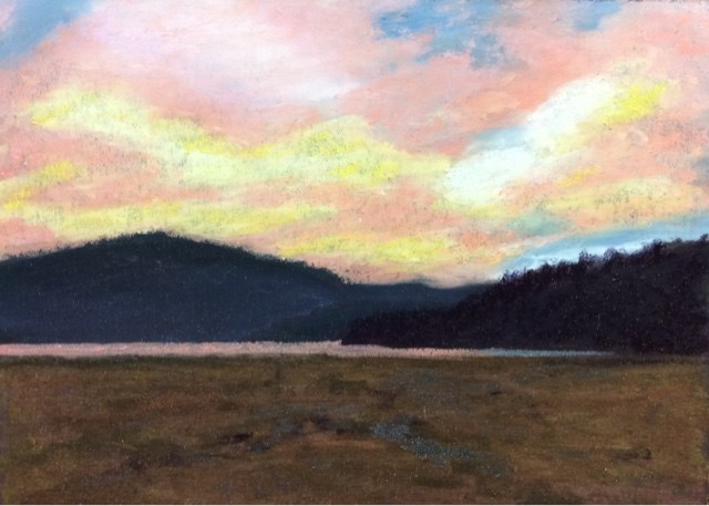 """SUNSET OVER RIFFLE LAKE"" original fine art by Marti Walker"