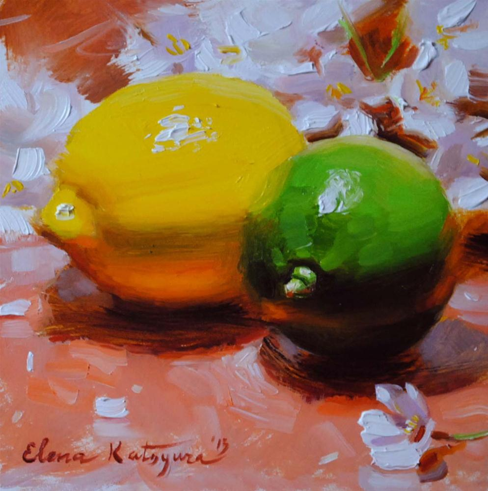 """""""Citrus Blossoms"""" original fine art by Elena Katsyura"""