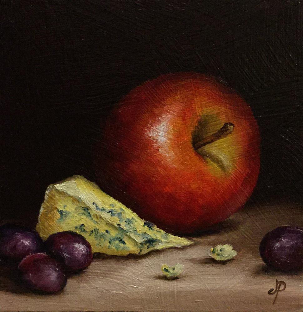 """Apple with Stilton"" original fine art by Jane Palmer"