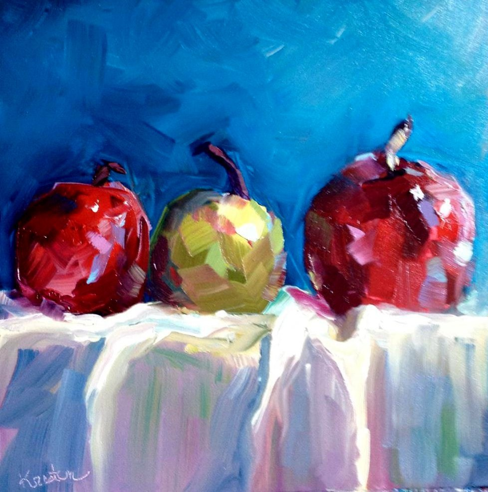 """Apples"" original fine art by Kristen Dukat"