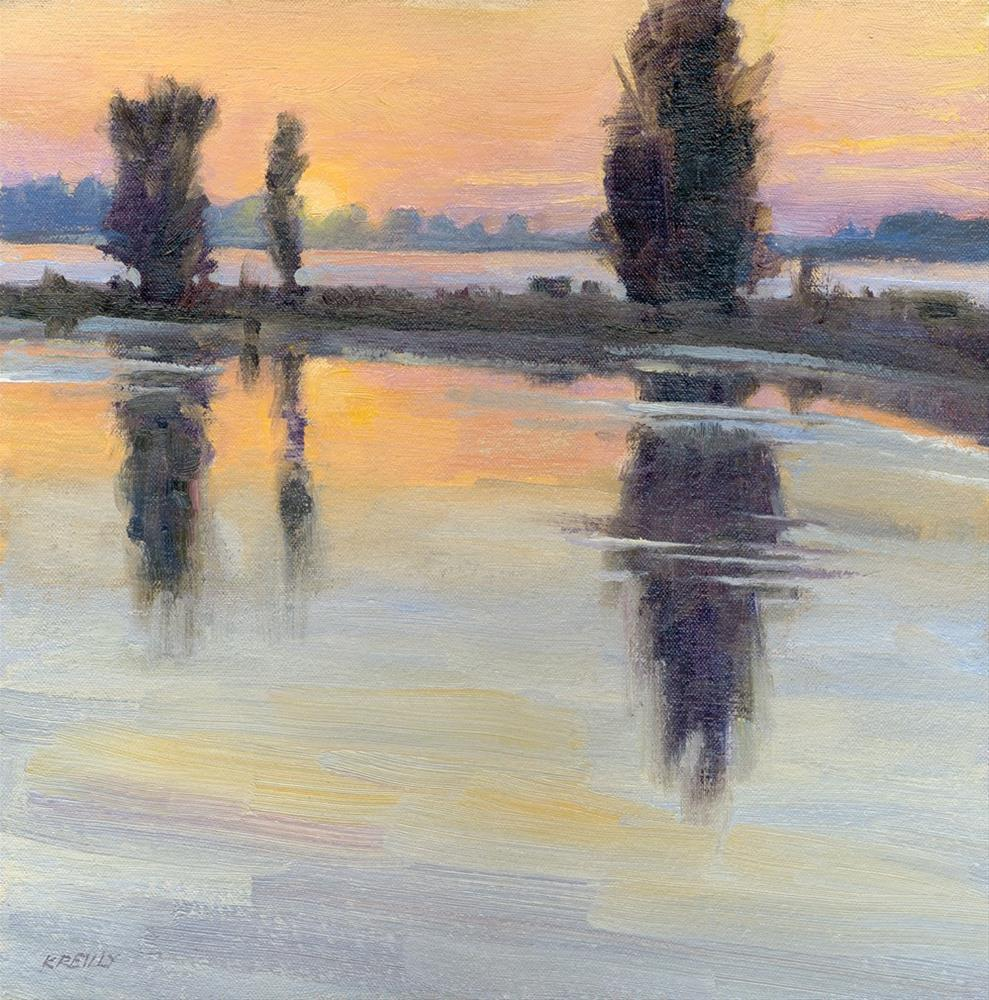 """Warm Sunrise"" original fine art by Kath Reilly"
