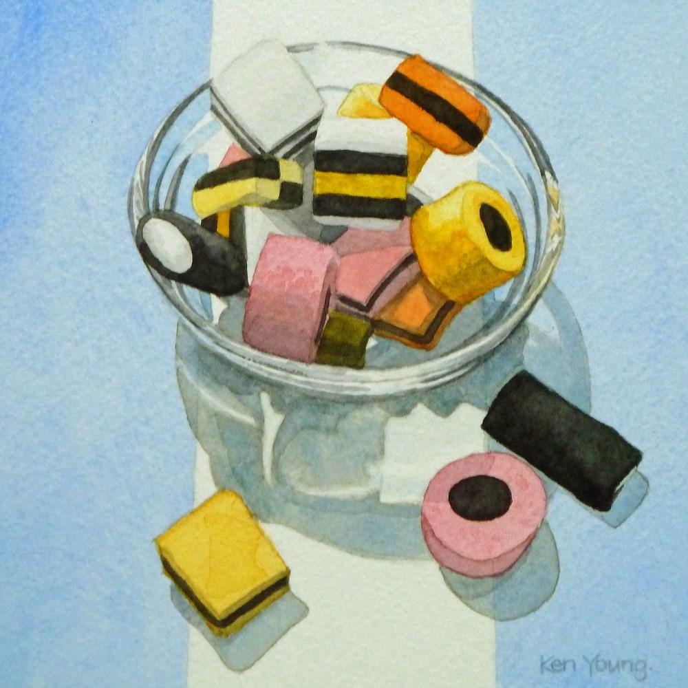 """Allsorts"" original fine art by Ken Young"