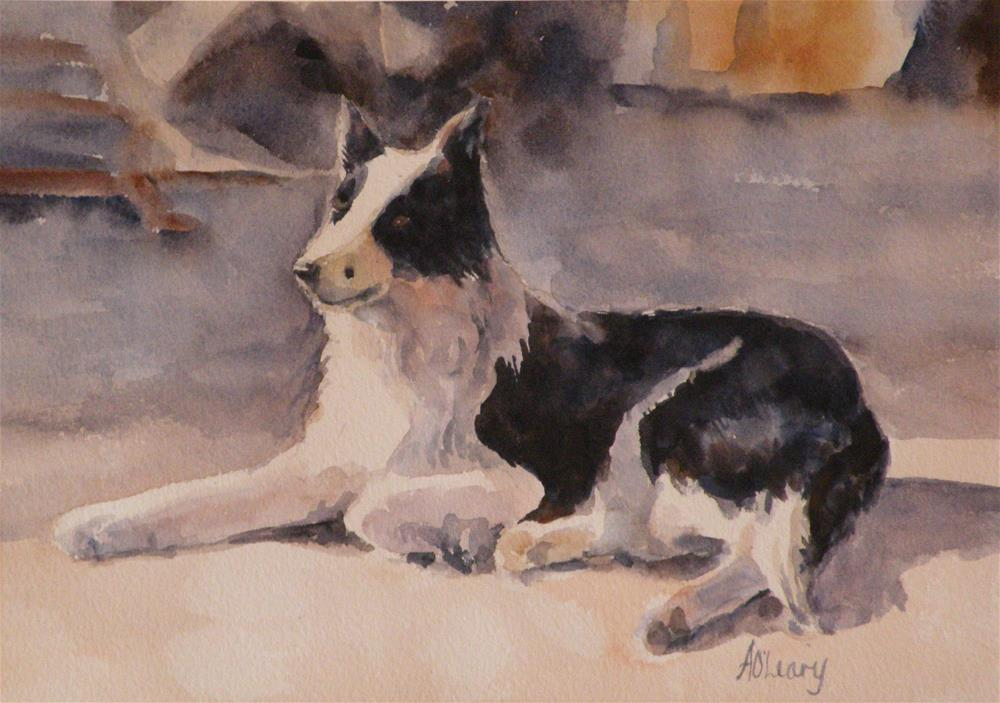 """Winery Guard"" original fine art by Alice O'Leary"