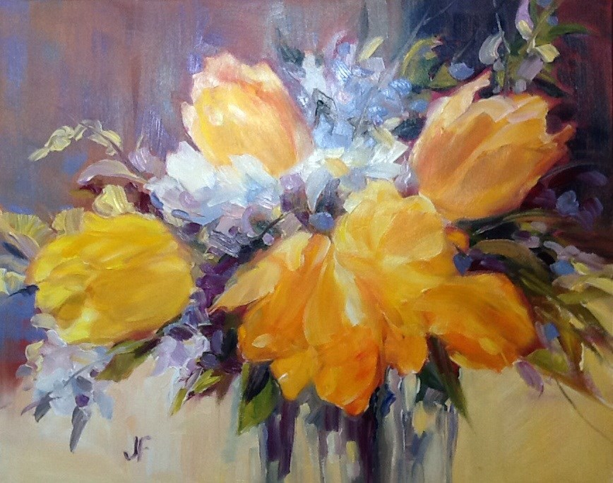 """Spring Tulips"" original fine art by Jean Fitzgerald"