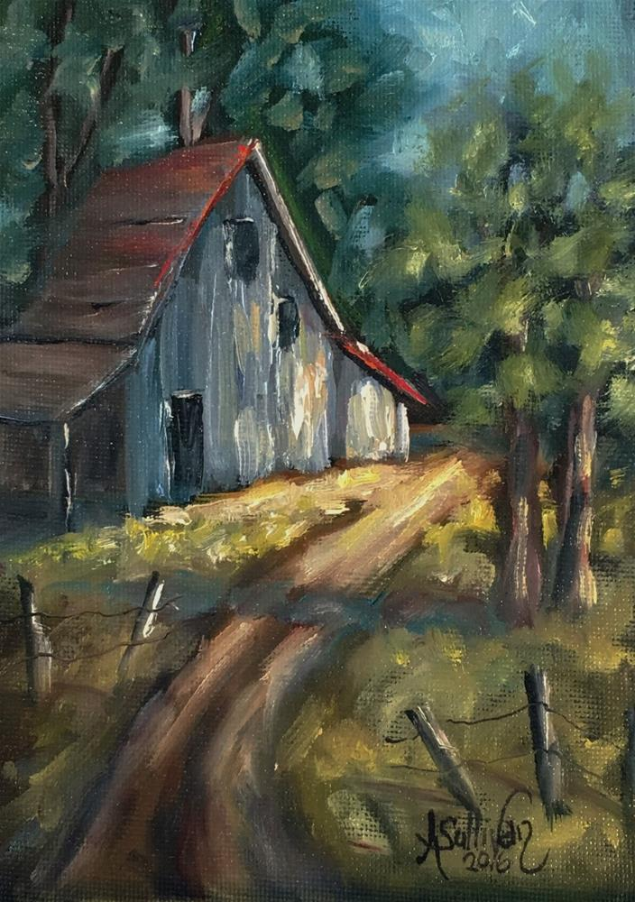 """The Road Leads Home landscape painting by Alabama Artist Angela Sullivan"" original fine art by Angela Sullivan"