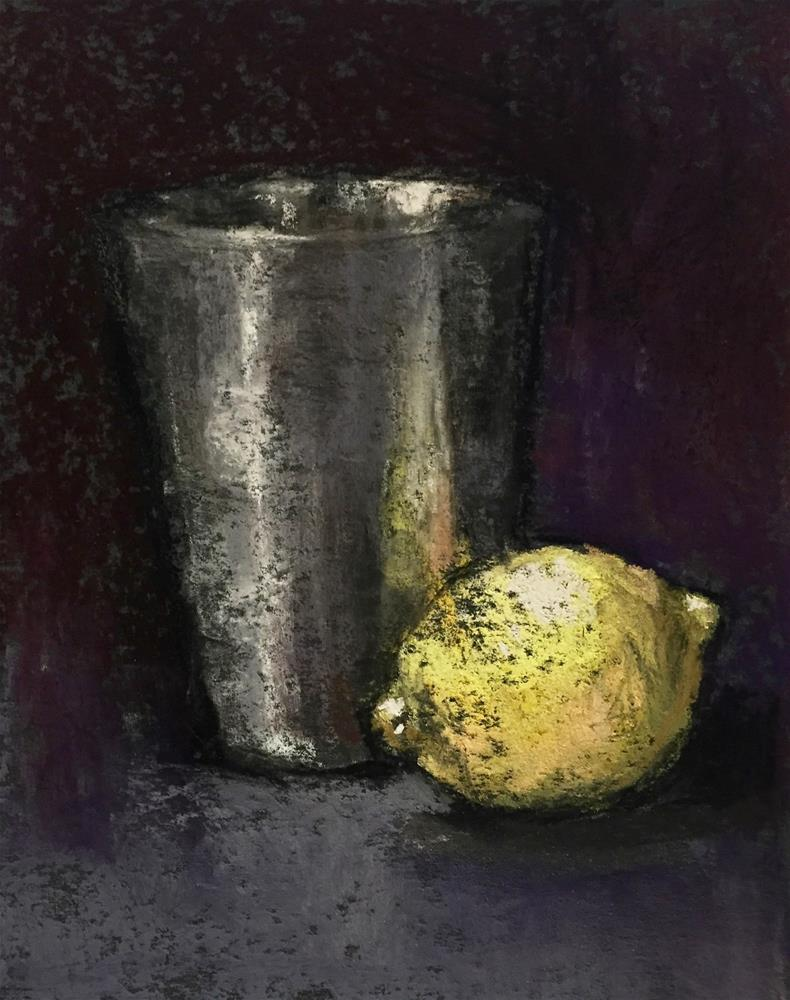 """Lemon and Silver"" original fine art by jeri greenberg"