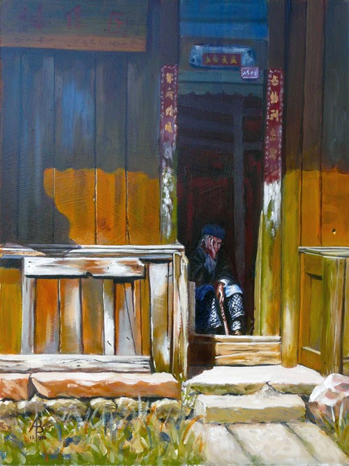 """Old China"" original fine art by Alix Baker"