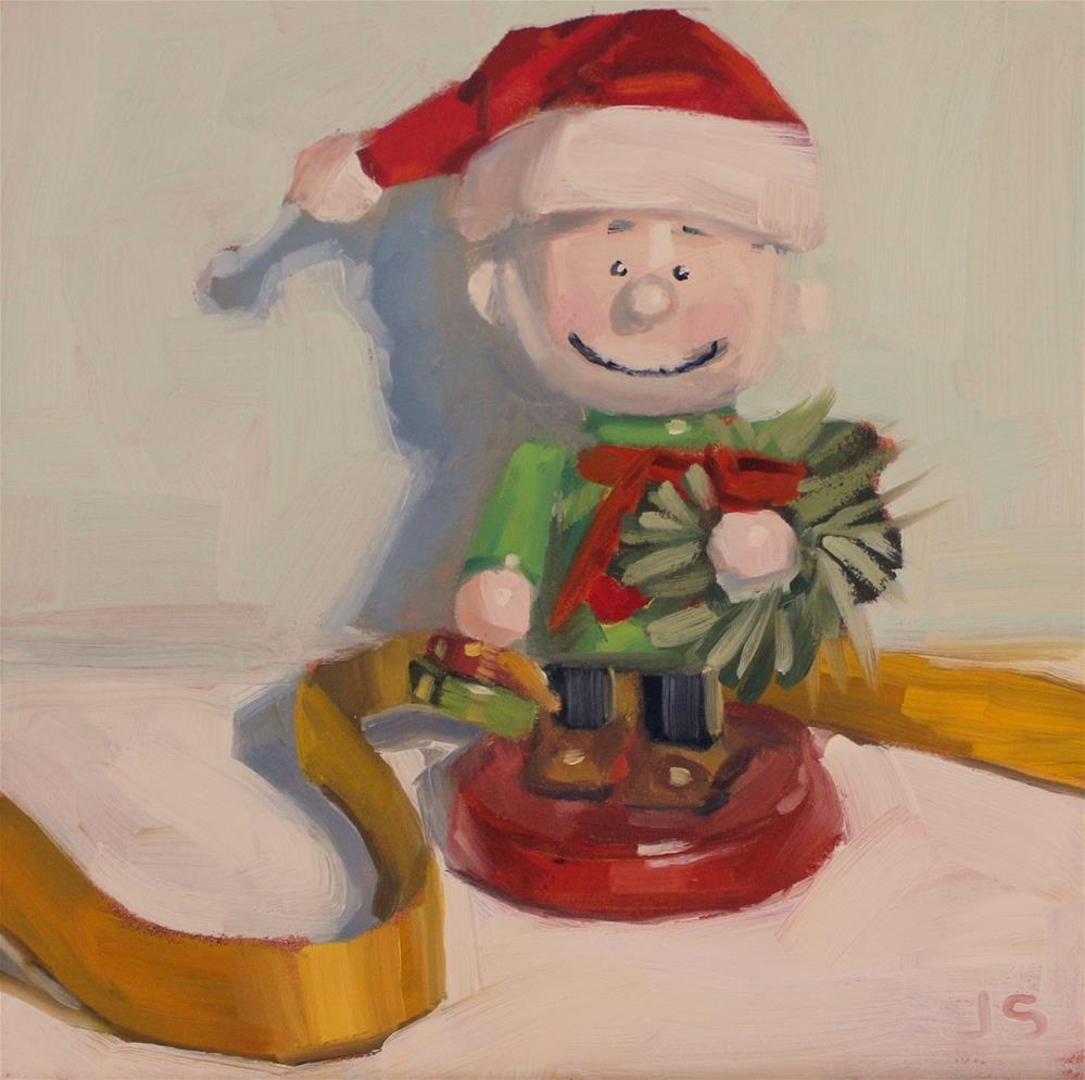 """Charlie Brown Christmas"" original fine art by Jamie Stevens"