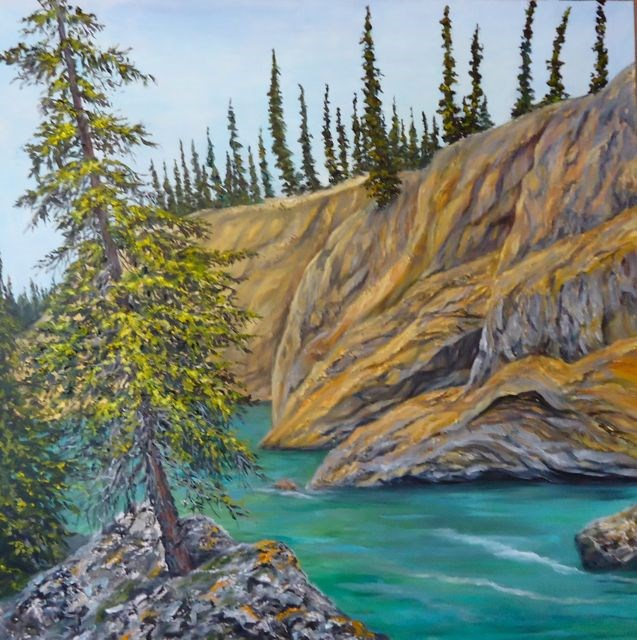 """Lapie Canyon, Yukon"" original fine art by Jackie Irvine"