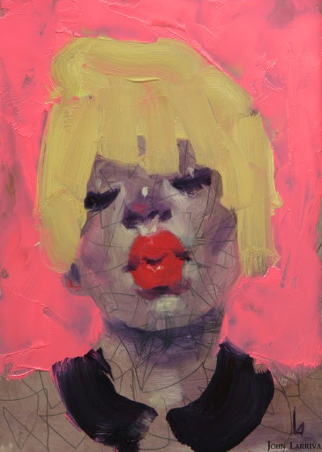 """Pretty Pink"" original fine art by John Larriva"