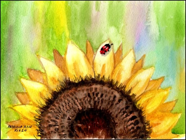 """Good Morning Sunflower"" original fine art by Patricia Ann Rizzo"