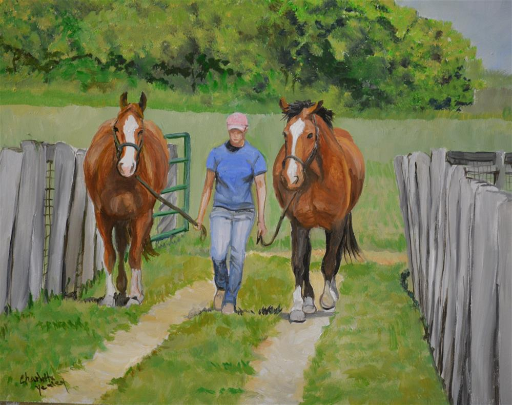 """Two by Two"" original fine art by Charlotte Yealey"