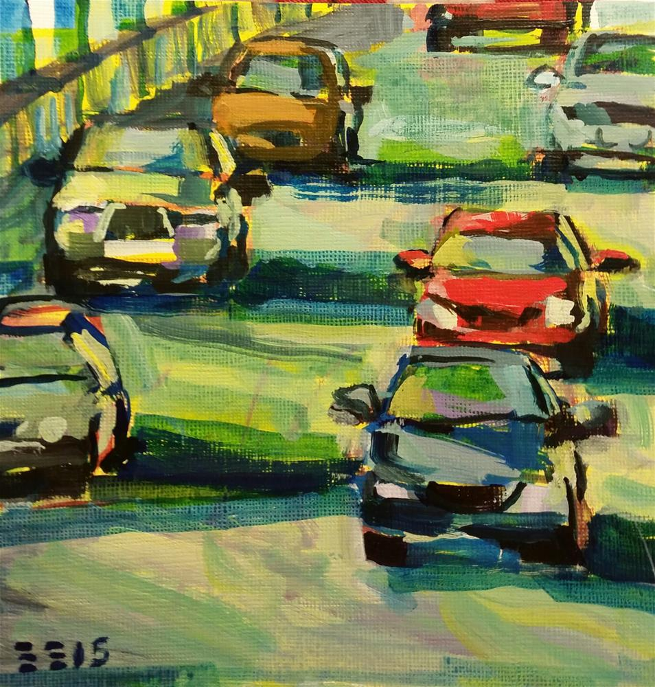 """On the Go"" original fine art by Liz Maynes"