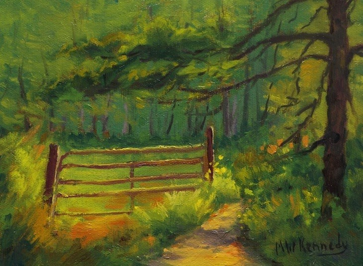 """The Gate"" original fine art by Michael Kennedy"