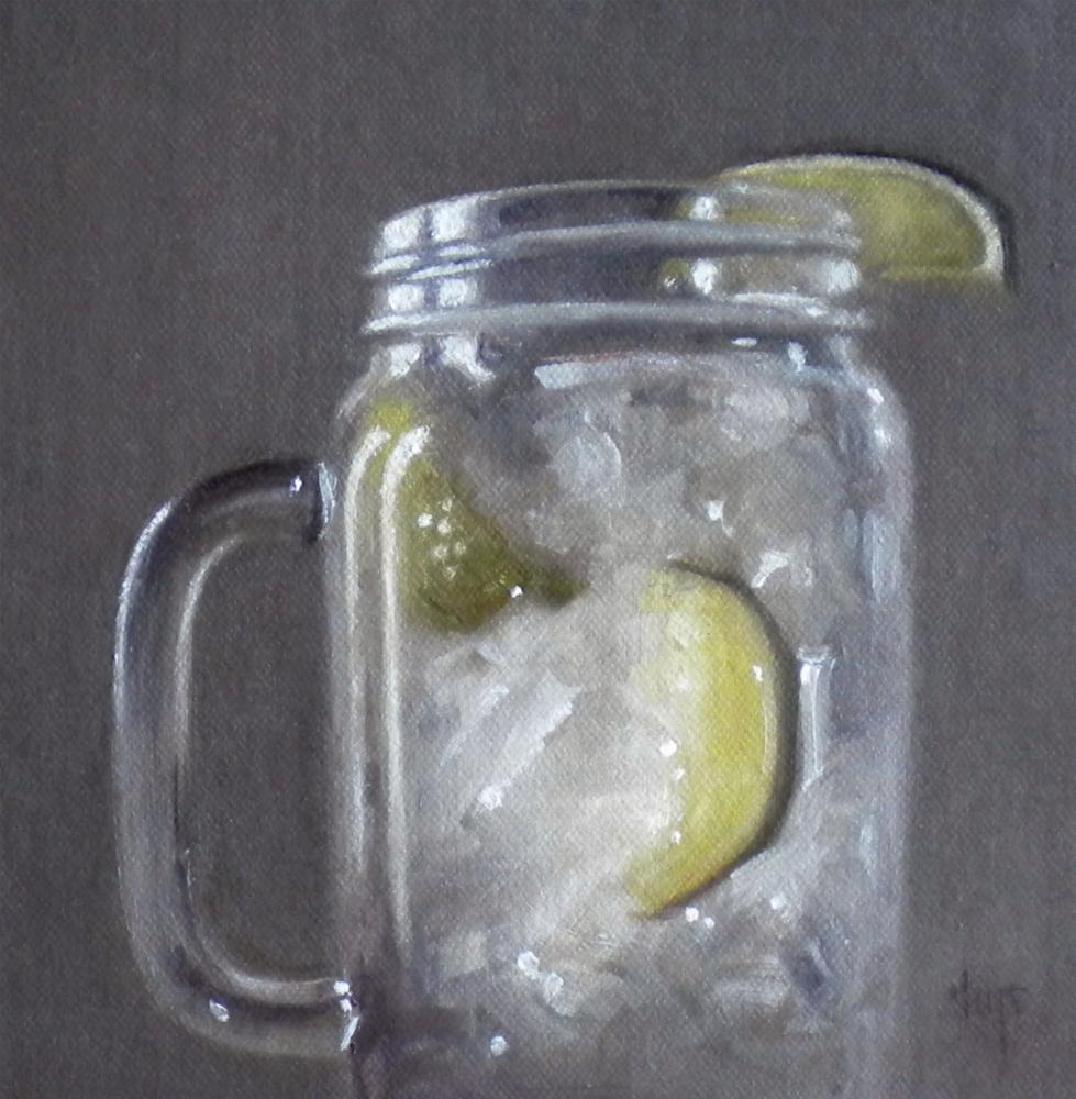 """""""Iced Water with Lime"""" original fine art by Darla McDowell"""