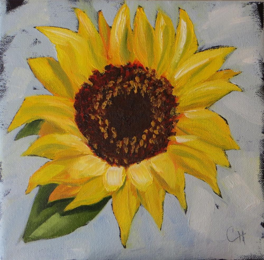 """Sunflower no. 2"" original fine art by Claire Henning"