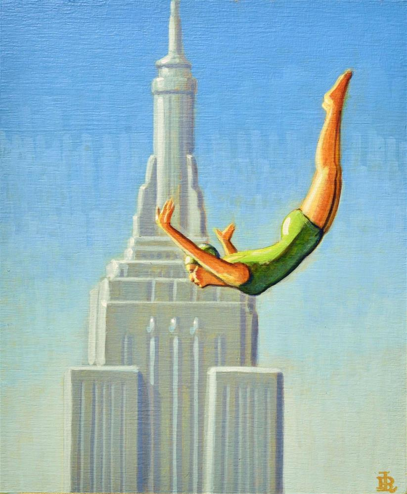 """High Dive"" original fine art by Robert LaDuke"