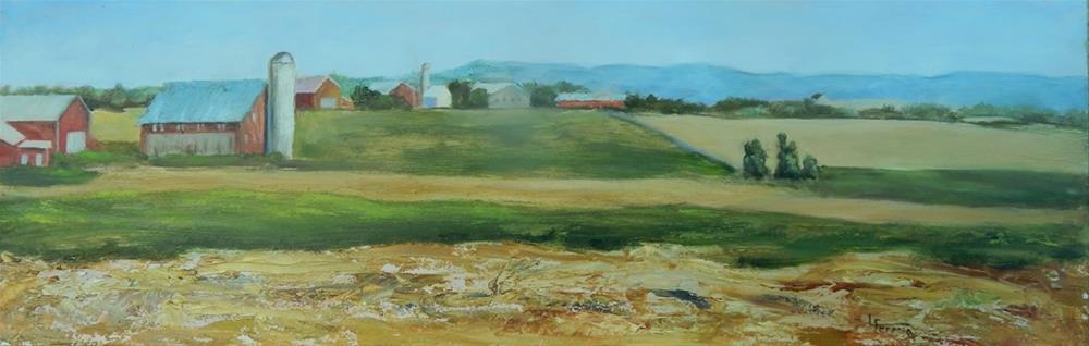 """Turned Ground"" original fine art by Lina Ferrara"