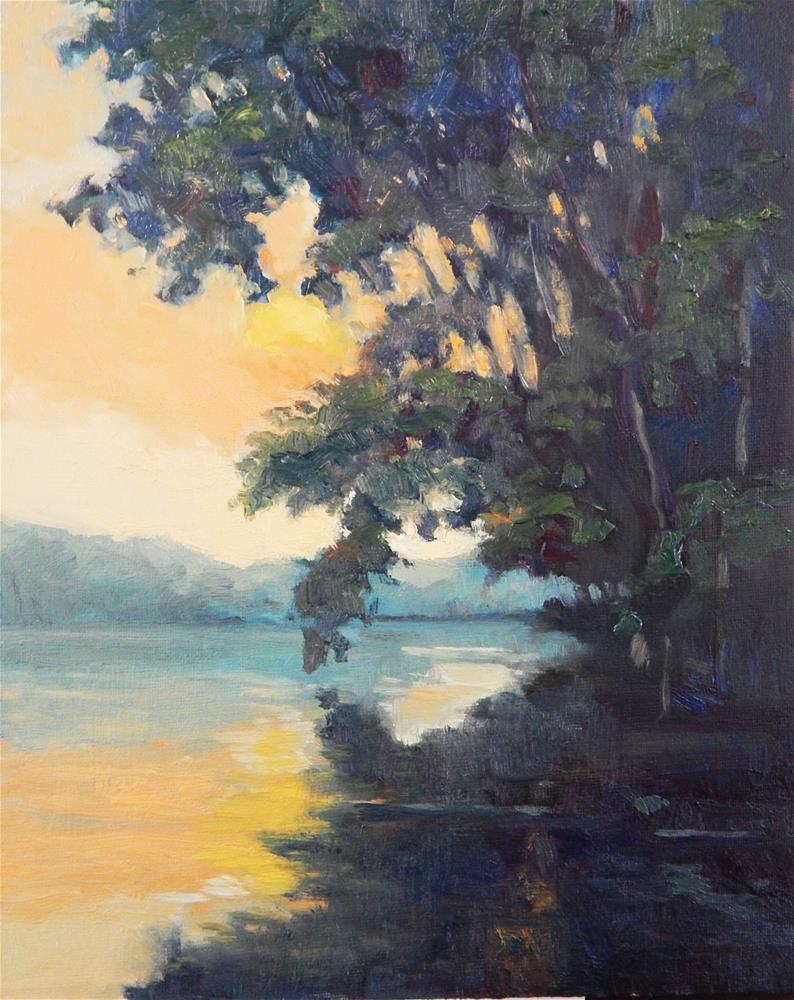 """At the River's Edge"" original fine art by Lisa Kyle"