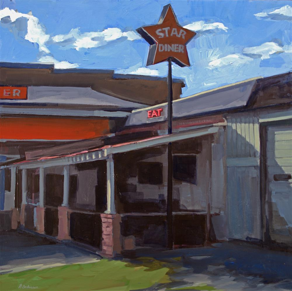 """Star Diner"" original fine art by Nat Dickinson"