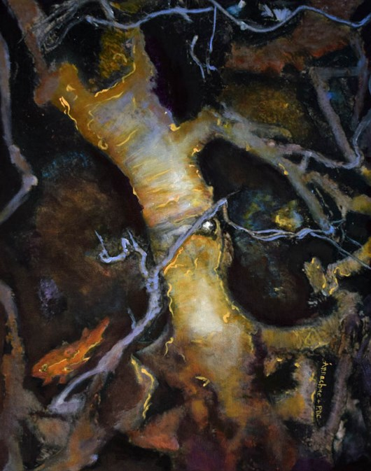 """Environmental Art Painting, Tree, Root Roots of Acceptance  by International Artist Arrachme"" original fine art by Arrachme Art"