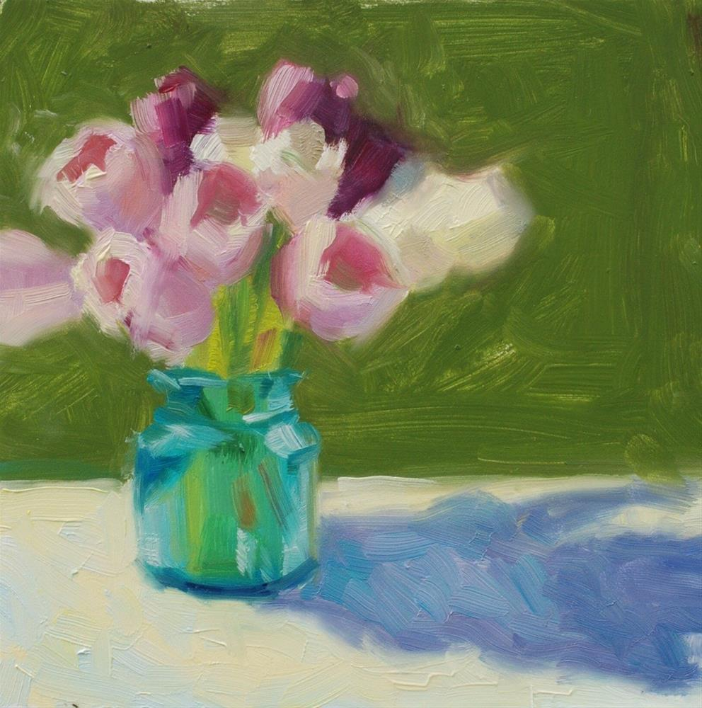 """No. 602 Tulips Alfresco"" original fine art by Susan McManamen"
