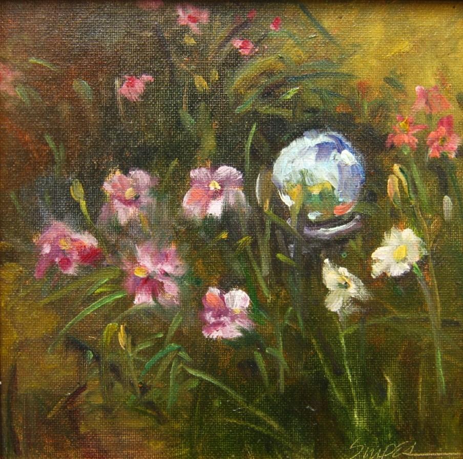 """""""Gazing Ball"""" original fine art by Connie Snipes"""