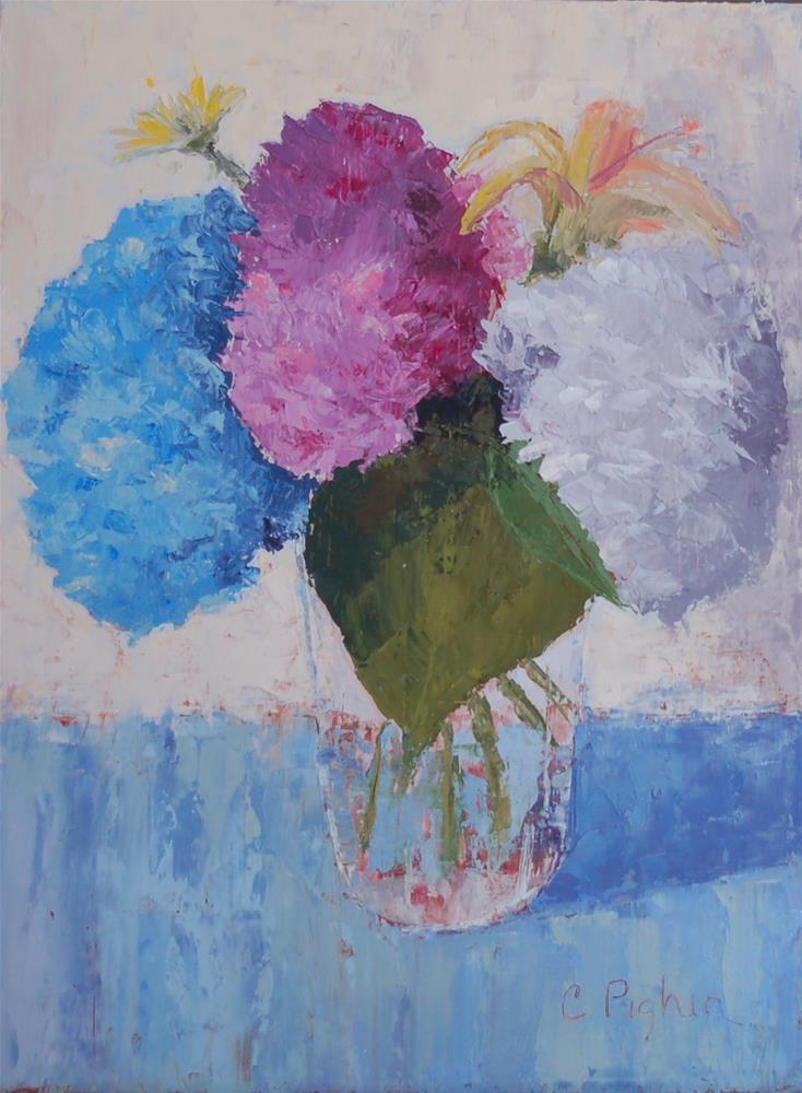 """Hydrangeas"" original fine art by Carol Pighin"