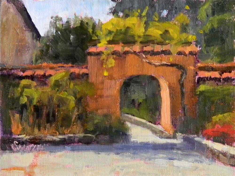 """Mission Gate"" original fine art by Barbie Smith"