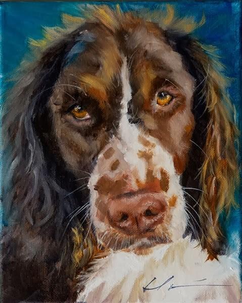 """""""Roscoe"""" original fine art by Clair Hartmann"""