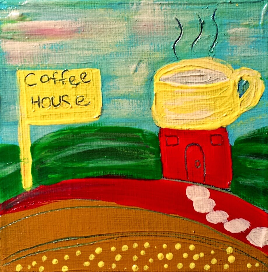 """Coffee House 5 House # 72"" original fine art by Christy Tremblay"