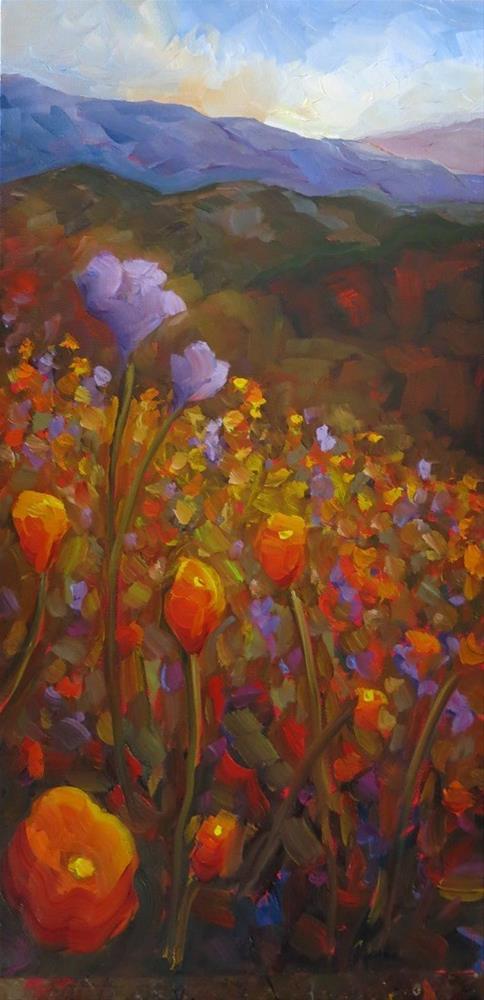 """""""CANYON DE FLORES"""" original fine art by Dee Sanchez"""