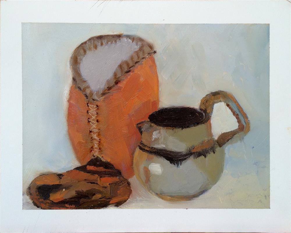 """""""Susan's Gourd"""" original fine art by Leslie Miller"""