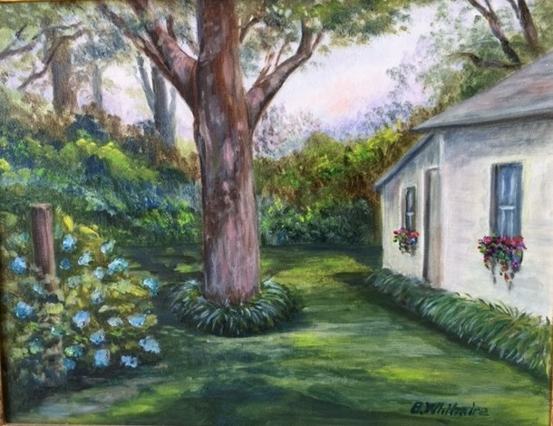 """Potting Shed"" original fine art by Barbara Whitmire"