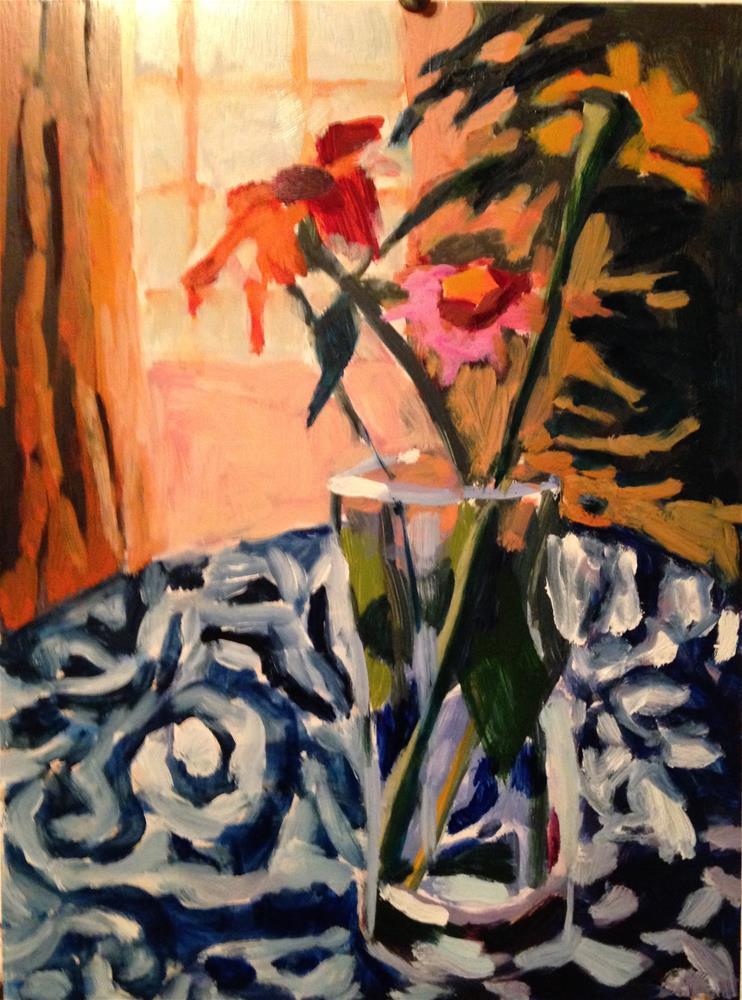 """""""It Warmed Up"""" original fine art by Pamela Hoffmeister"""