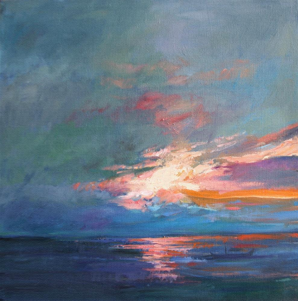 """Pacific Sunset"" original fine art by Ann Buenaventura"