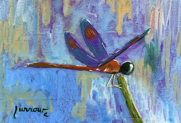 """Dragon Fly No. 20"" original fine art by Sue Furrow"