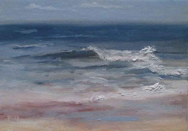 """Daily painting #726 Umzumbe sea"" original fine art by Heidi Shedlock"
