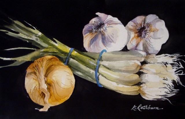 """Savory"" original fine art by Kathy Los-Rathburn"