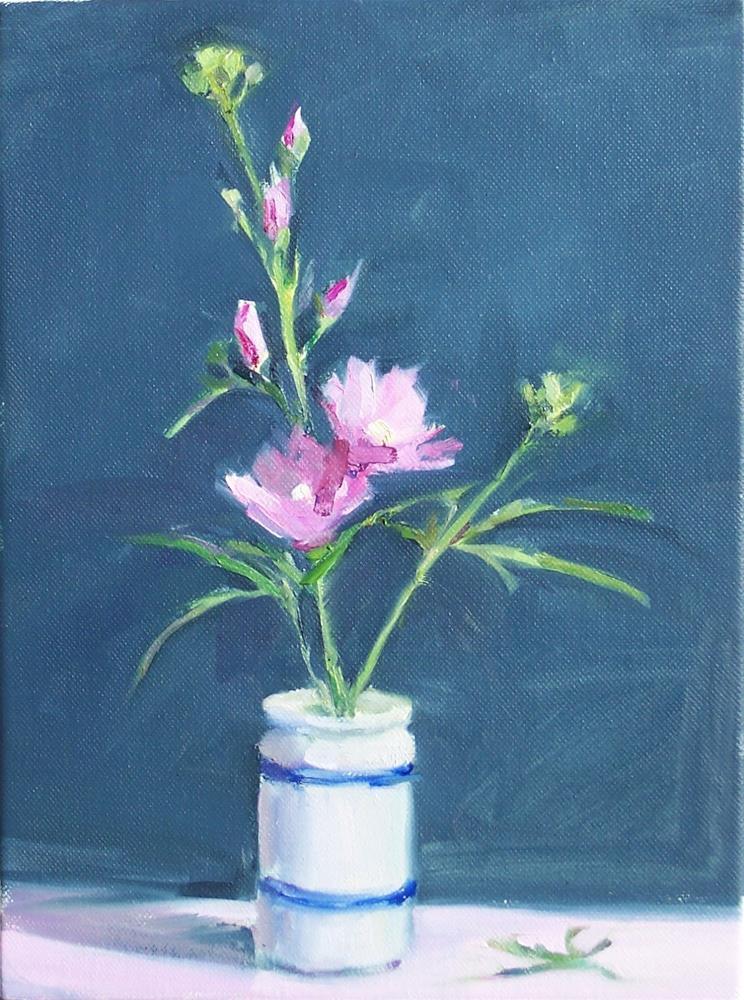 """Flowering Bush,still life,oil on canvas,12x9.price$300"" original fine art by Joy Olney"