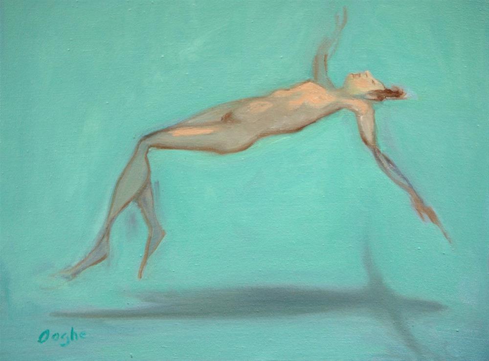 """Floating 3"" original fine art by Angela Ooghe"