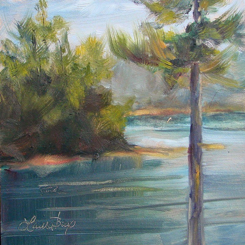 """Lake View - 219"" original fine art by Laura  Buxo"