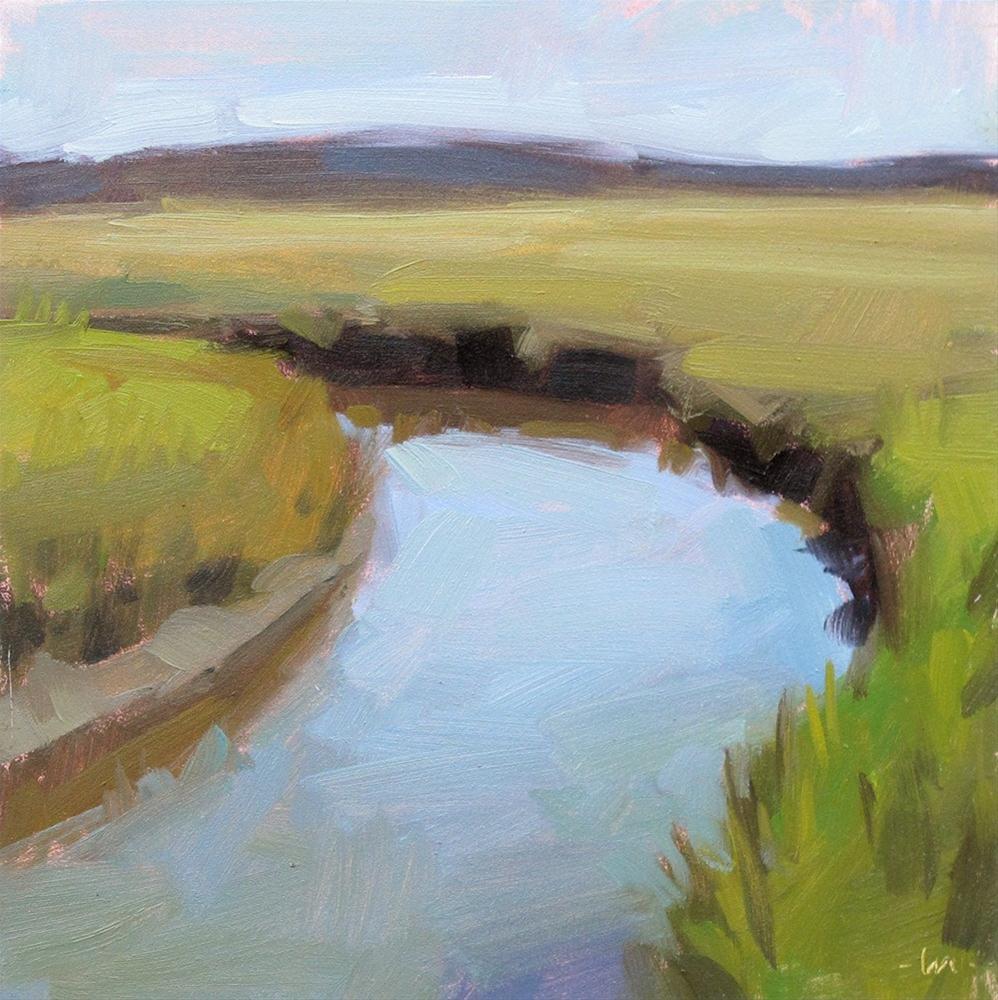 """Marsh in the Morning"" original fine art by Carol Marine"
