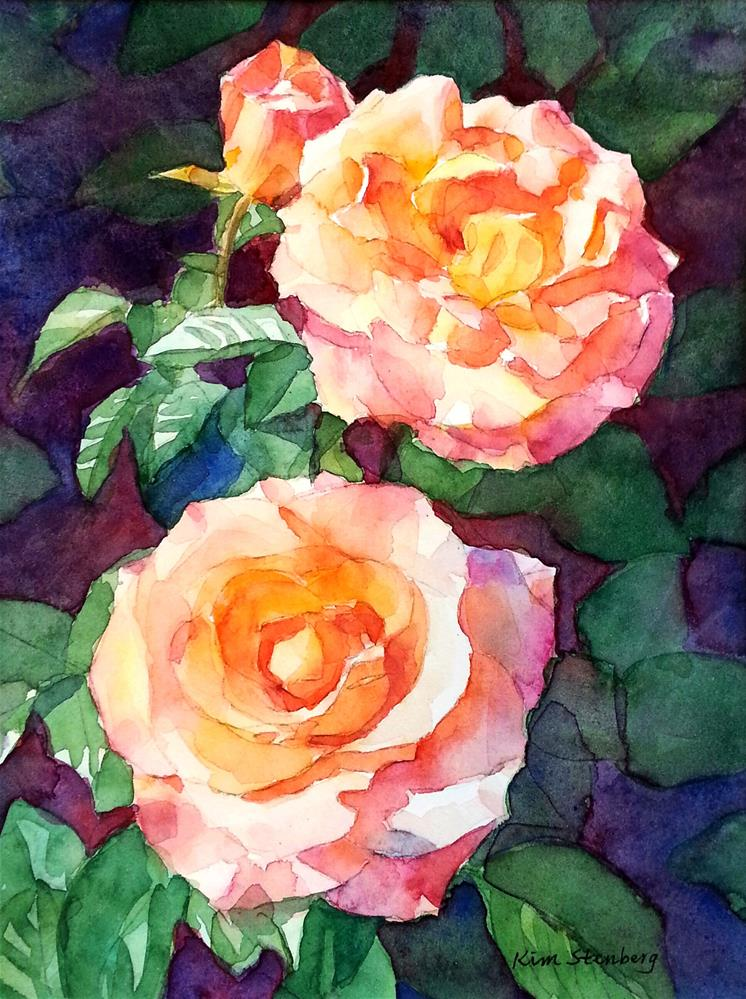 """Rose Glamour"" original fine art by Kim Stenberg"