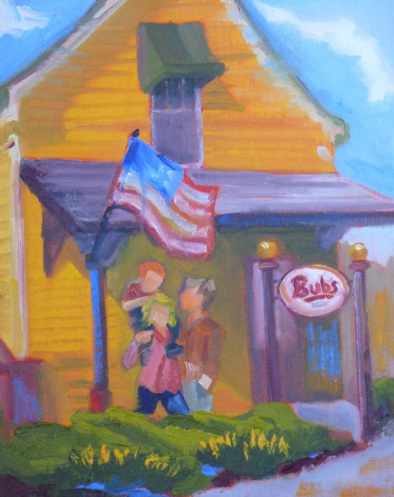 """Bub's Burgers"" original fine art by Shawn Deitch"