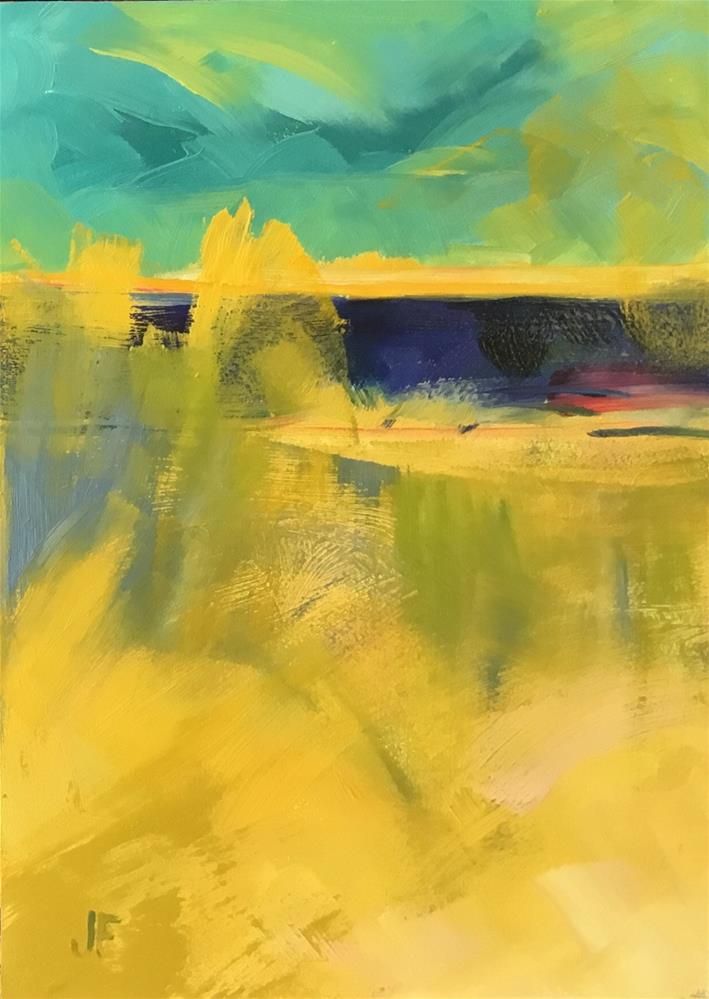 """""""Abstract 8"""" original fine art by Jean Fitzgerald"""